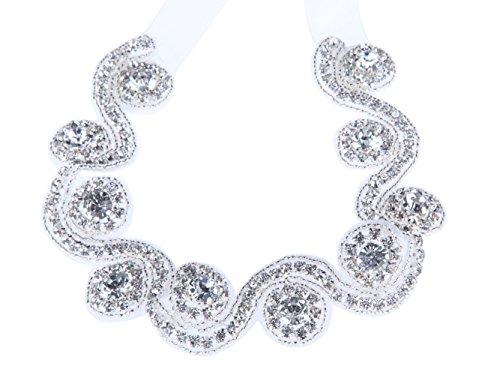 FAIRY COUPLE Crystal Rhinestone Jewelry Beads Bridal Headband Headpiece A-H015 Organza Ribbon