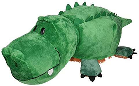 FlipaZoo The 16 Plush with 2 Sides of Fun for Everyone - Each Huggable FlipaZoo character is Two Wonderful Collectibles in One (Grizzly Bear / (Elsa Palace Throw)