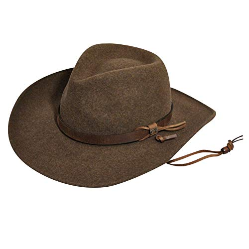 Morgan Mens Hat - Bailey Western Wind River Collection Morgan LiteFelt Outback Hat,  Olive Mix (X-Large)