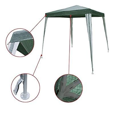ALEKO GZ6.5X6.5GR Popup Gazebo Canopy Patio Coffee Shelter 6.5 x 6.5 Feet Green : Garden & Outdoor