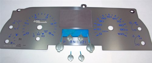 US Speedo SS F 10B - Stainless Steel With Blue Numbers - Diesel Without Trip Button - for: Ford F250 F350 Diesel Lariat