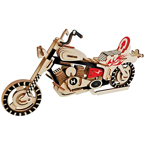 Wooden Motorcycle Model Creative Puzzle Games Learning Educational Hobby Toys Gift for Kids Adults from Hubac