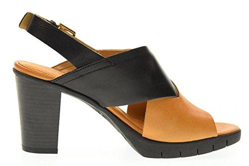 THE FLEXX Sandalen Schuhe C611 / 03 YUMMY BLACK / cognac Nero / Cognac