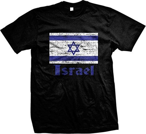 Flag of Israel, Israeli Flag, Israel Pride Men's T-shirt, NOFO Clothing Co. L Black