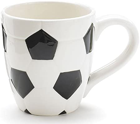 Ceramic Soccer Ball Mug