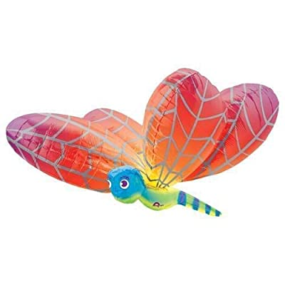 "Anagram 40"" Rainbow Dragonfly Large Balloon: Toys & Games"