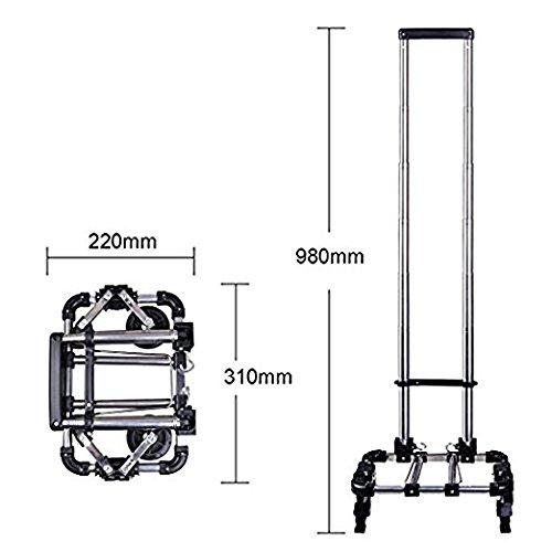 Shopping Trolley Luggage Bag With Wheels (Black) - 7