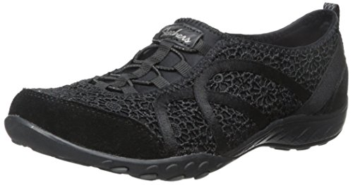 Skechers Breathe Easy Fortune, Sneakers Basses Femme Black Meadows