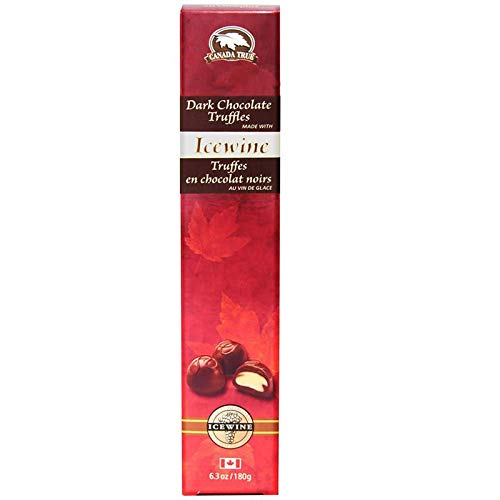 Canada True Dark Chocolate Truffles flavoured with Icewine, 15 truffles, 180g (6.3oz), Product of Canada ()