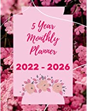 2022 2026 5 Year Monthly Planner: Large 8.5x11 Floral Agenda Schedule Organizer and Appointments | Yearly At A Glance Planner With To Do List, Goals, Note Pages