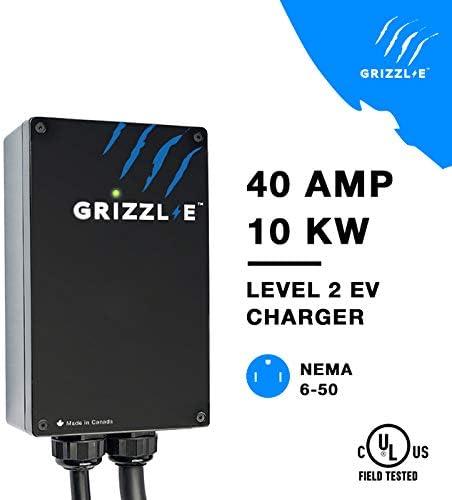 NEMA 6-50 Plug Grizzl-E Level 2 EVSE 40 AMP GR1-6-24-PB 24 feet Premium Cable