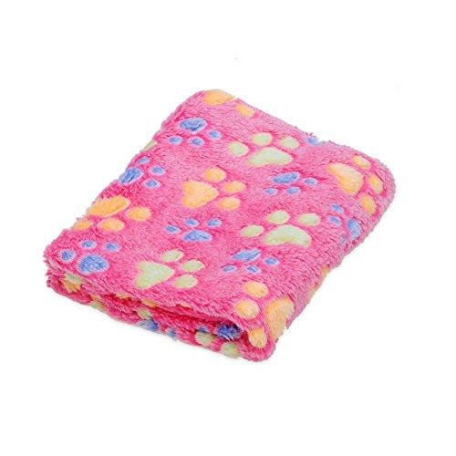 Patgoal Pet Dog Cat Puppy Kitten Soft Blanket Doggy Warm Bed Mat Paw Print Cushion