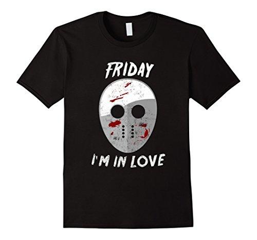 Halloween Mashups (Mens Friday I'm in Love Halloween Funny Mash Up T-Shirt XL Black)