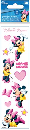 Disney Minnie Mouse Hearts Slims Dimensional Stickers (Minnie Dimensional Mouse Stickers)