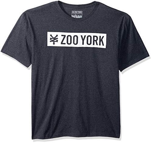 Men Zoo - Zoo York Men's Short Sleeve Logo Tee, Black Heather, Large