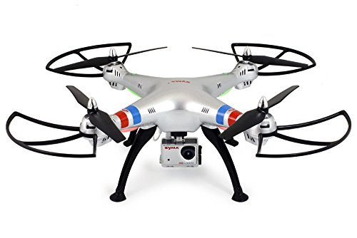 Syma X8G Headless 2.4Ghz 4CH RC Quadcopter with 8MP HD Camera (Silver) 8 Mp Quad