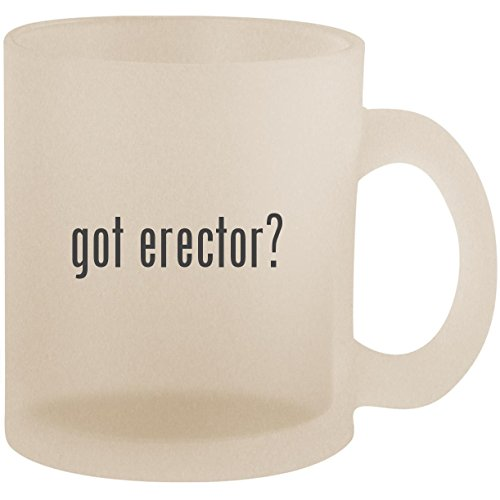 got erector? - Frosted 10oz Glass Coffee Cup Mug ()