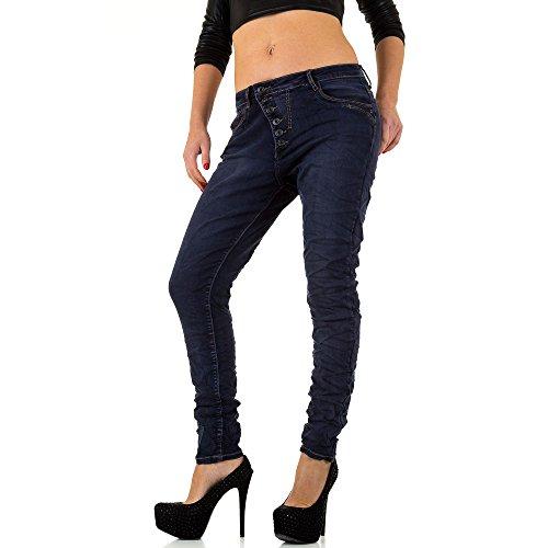 Used Low Boyfriend Skinny Jeans Für Damen , Blau In Gr. L/40 bei Ital-Design