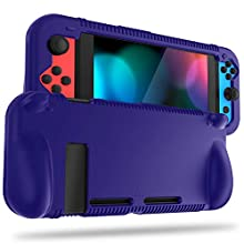 FINTIE Silicone Case for Nintendo Switch - Soft [Anti-Slip] [Shock Proof] Protective Cover with Ergonomic Grip Design, Drop Protection Grip Case for Nintendo Switch Console & Joy-Con (Navy)