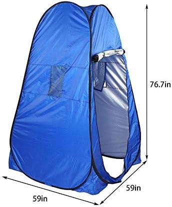 Privacidad Portátil Tienda De Ducha Inodoro Camping Tienda Emergente Camuflaje/Función UV Baño Exterior Vestidor Tienda/Fotografía Tienda Azul