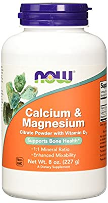 NOW Foods Cal-Mag Citrate, 8 Ounces