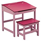 Premier Housewares Children's Desk and Stool Set - Pink