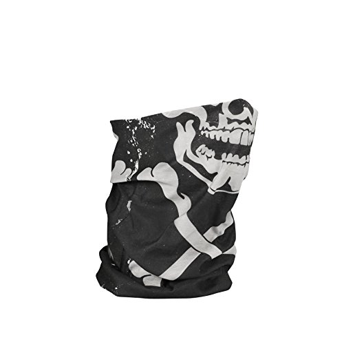 2014 Zan Headgear Skull Crossbones Fleece Lined Motley Tube - One Size