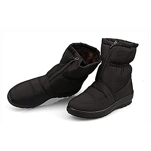 5702c19fc4f6e Sfnld Women s Warm Fully Fleece Lining Winter Shoes Snow Ankle Boots  durable modeling