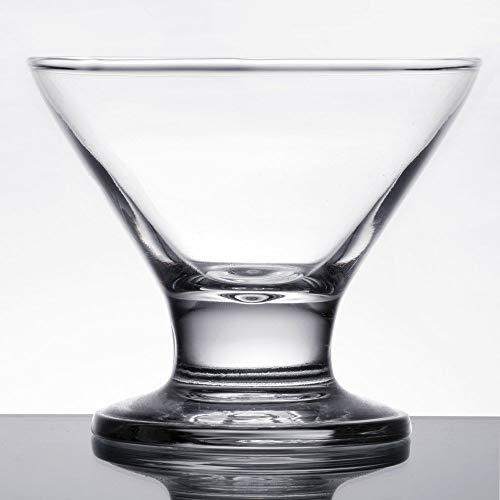 MM Foodservice 8-Ounce Martini Glasses, Cocktail Glasses, Cosmopolitan Glasses, Elegant Dessert Glass, Set of 4