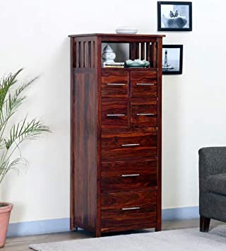 Shilpi Sheesham Wood Attractive Chest of 7 Drawers in Provincial Teak Finishing