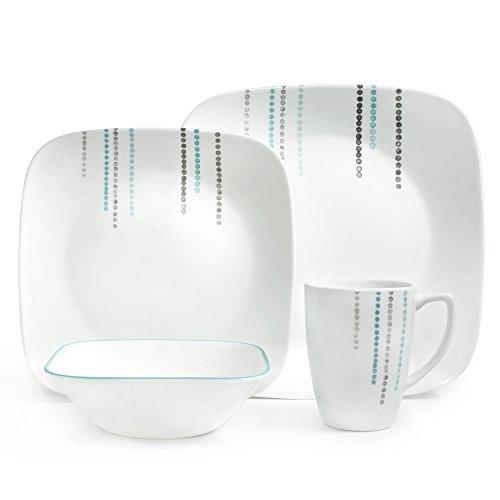 Corelle® Square™ 16pc Dinnerware Set Rain Drops