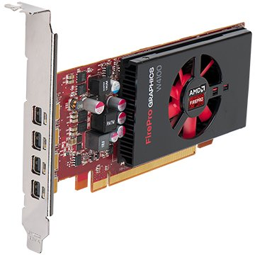 Sapphire 100-505979 AMD FirePro W4100 2GB DDR5 PCIE Quad Mini-DP Full Retail (Retail Video)