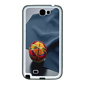Black Crow Cases 3D Sphere And Cloth Custom Samsung Galaxy Note II N7100 Case Cover ¨C TPU ¨C White