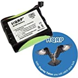 HQRP Cordless Phone Battery for Panasonic P-P508 / P-P508A / Type 19 / P-P508PA Replacement / Extended / High-capacity / plus Coaster, Office Central