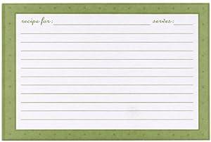 Meadowsweet Kitchens Recipe Card Set   European Garden
