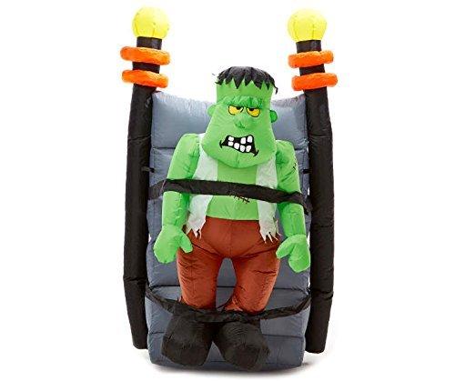 Gemmy Inflatable Shaking Halloween Frankenstein Monster - 5 Feet Tall - Animated Shaking -