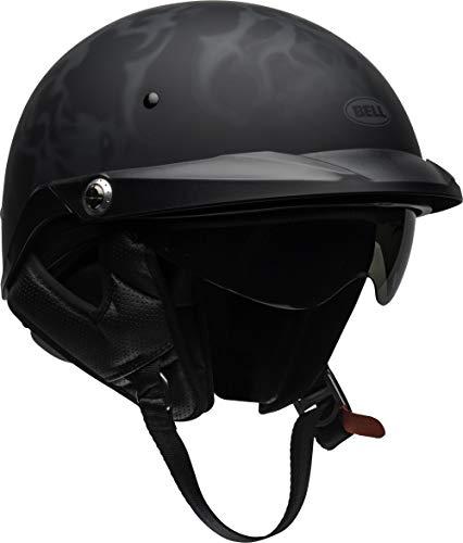 Bell Pit Boss Open-Face Motorcycle Helmet (Flames Matte Black/Gray, Large)