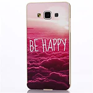 HJZ Metal Frame Full Embossment Paris Red Cloud Pattern Hard Hard Case for Samsung Galaxy A7 (Assorted Colors) , Silver