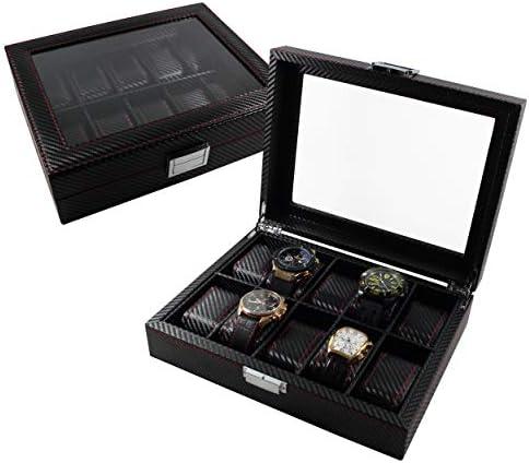 ✅ Feibrand Caja Reloj Hombre para 4 Reloj Estuche Guardar