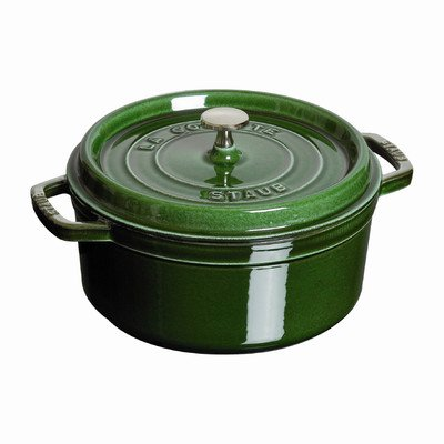 Staub Wide Round Oven Shallow Cocotte, Basil, 4 qt. - Basil