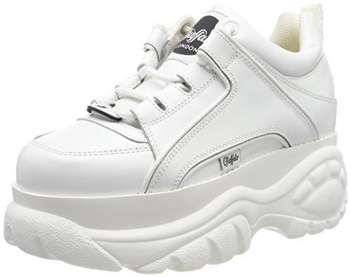Buffalo London Women's Classic Kicks Sneakers, Blanco, White, 37 M EU