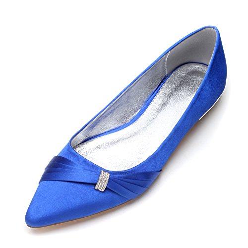 Lady blu e basse Grande moda alla selvaggio scarpe unico scarpe Qingchunhuangtang piano con Il scarpe nozze punta calzature xXwqHz8Tq