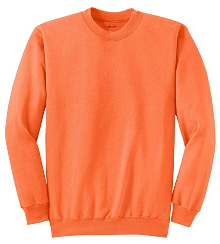 (Joe's USA Youth Soft and Cozy Crewneck Sweatshirt,XL-Neonorange)