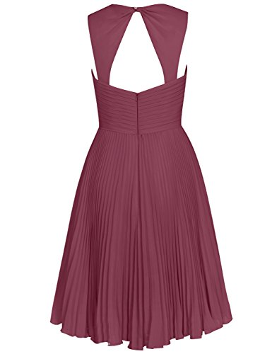 Bridesmaid Pleated Sweetheart Short Wedding Dresses Gray Cdress Straps Chiffon Womens qIw6H0HF