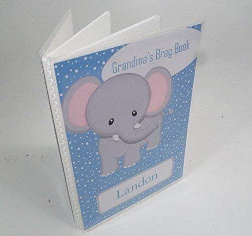 Baby photo album boy baby album red blue elephant baby shower gift 4x6 or 5x7 picture book grandmas brag book mothers day gift 550