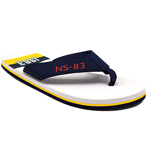 Nautica Men's Flip Flops Light Comfort Beach Sandal, Flat Thong Slides-Merion-Navy-11