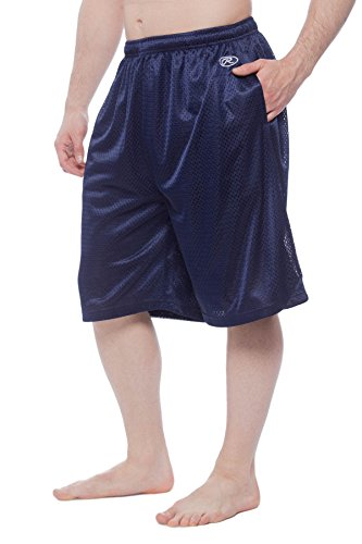 - Men's Rawlings Athletic Gym Mesh Shorts Navy XL