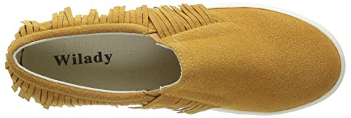 on Slip Talon Mode Baskets Camel Frange Angkorly Femme Plateforme 5 Compensé Cm Chaussure xaZXOqwR
