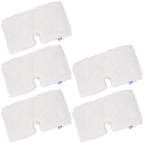 Ugardo 5-PK Washable Steam Mop Pads Replacement for Shark Steam Pocket Mops S3500,S3501,S3601,S3550,S3901,S3801,SE450,S2902,XT3601, White by Ugardo