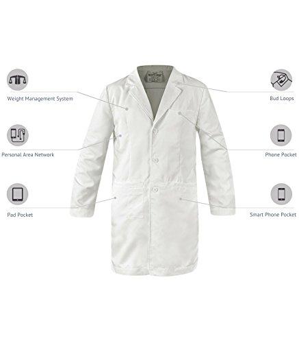 SCOTTeVEST Men's Lab Coat - 16 Pockets - Medical Uniform, Pickpocket Proof XL by SCOTTeVEST (Image #1)'